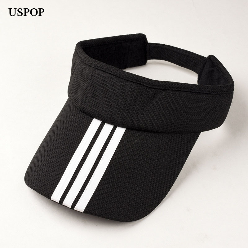 USPOP 2018 Brand fashion woman   baseball     cap   Summer women empty top striped   caps   unisex casual adjustable cotton visor   cap