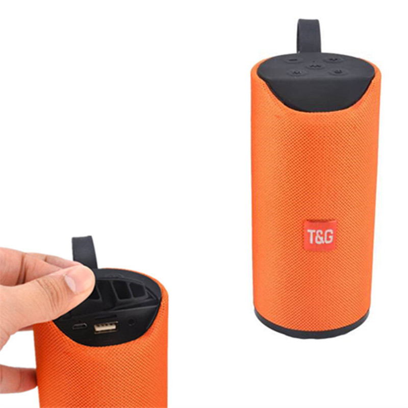 Bluetooth Speaker Sports Waterproof Portable Subwoofer column cloth cover fabric Wireless Column Box speakers with FM lordzmix (2)