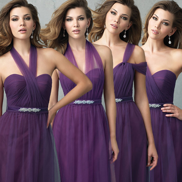 Purple Evening Dress Bridesmaid Bride Toast A Dinner Banquet Costume Annual Meeting 18 Diffe Ways