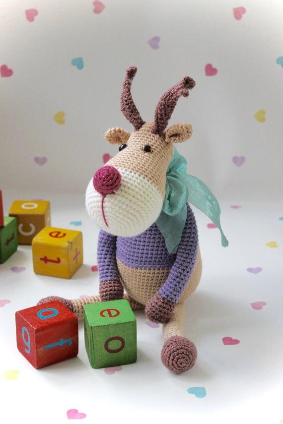 Amiani Noel the Reindeer cute amigurumi Crochet PDF | Etsy | 855x570