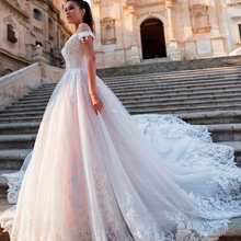 Fmogl Sexy Illusion Wedding Dresses 2019 Court Train