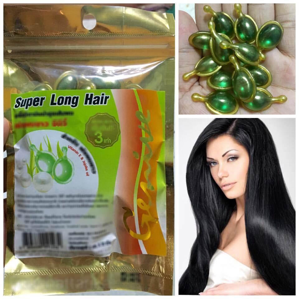 Free Shipping Super Long Hair Genive Serum Green Vitamin E Growth Hair Faster Longer Treatment