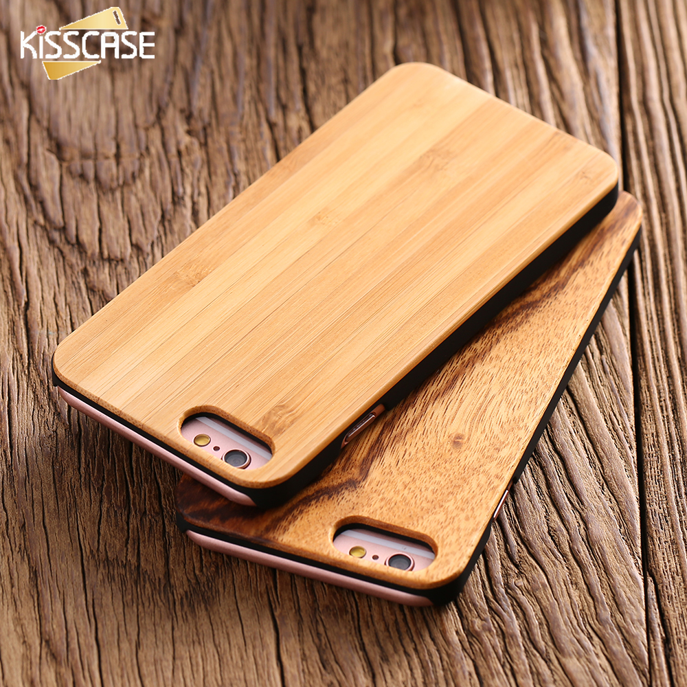 kisscase 100 real natural bamboo wood case for iphone 6 6s 7 iphone 7 6 plus for samsung s8. Black Bedroom Furniture Sets. Home Design Ideas