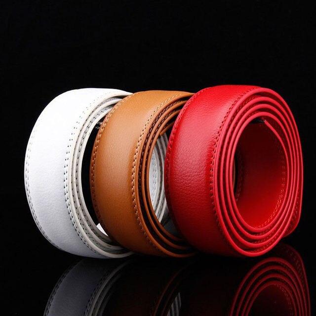 Cinturón de moda sin hebilla para hombre cinturones de cuero de lujo de alta calidad para hombres para correa hebilla automática de Metal Masculino