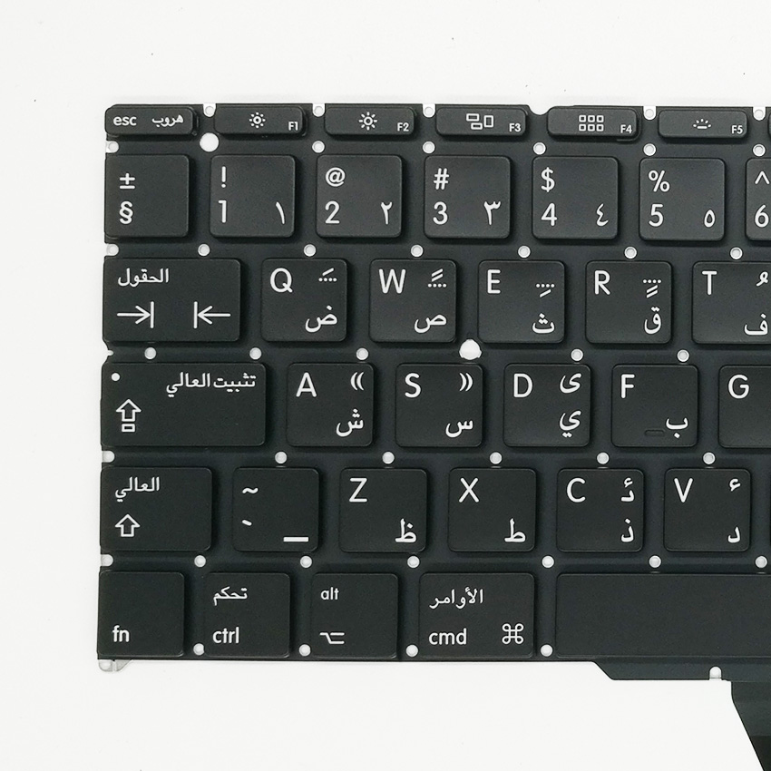 5pcs/lot New A1370 A1465 Arabic AR Keyboard For Apple Macbook Air 11 A1465 A1370 Keyboard Replacement 2011-2015 Year