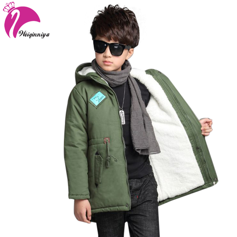 weiqinniya Boys Down Parkas Jackets Winter Down Coats Russian For Boy 2018 Kids Windbreaker Hooded Jackets For Boys Thick Jacket цена 2017