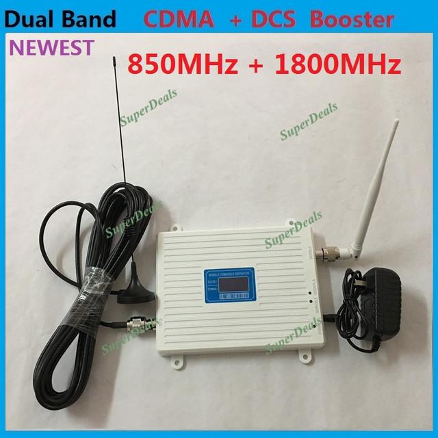 Display LCD 2G GSM 850 Mhz DCS 1800 MHz Sinal de Telefone Celular reforço GSM 4G Dual Band Sinal de Celular Repetidor Amplificador com antena