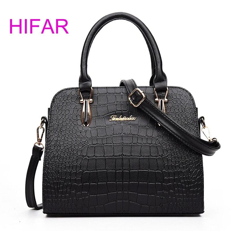 Luxury Handbags Women Bag Designer 2017 High Quality Fashion Crocodile Tote Bags Handbag Women Famous Brand PU Leather