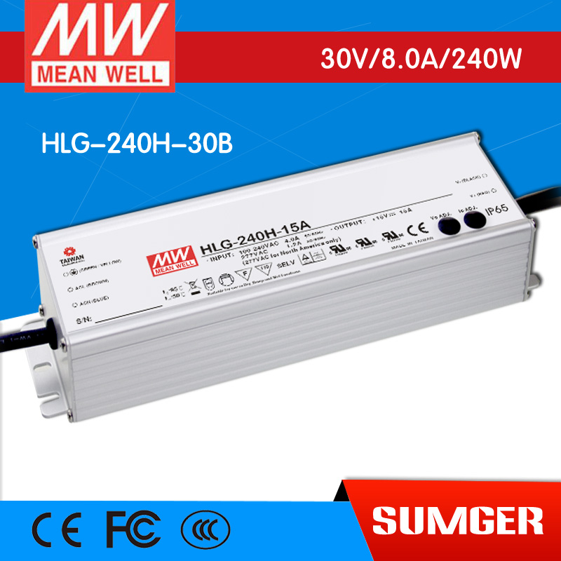 ФОТО [NC-B] MEAN WELL original HLG-240H-30B 30V 8A meanwell HLG-240H 30V 240W Single Output LED Driver Power Supply B type