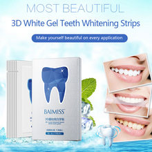 BAIMISS Teeth Whitening Strips 3D White Gel Tooth
