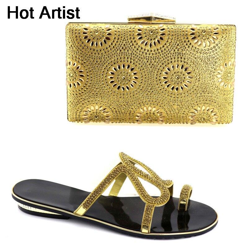 Italia Hot Il Yk oro Stile Moda Artista E Set Partito 015 Scarpe Blu Strass Borsa Nuovo Signore Tacchi Bassi Per Donna Maching qqgEUar