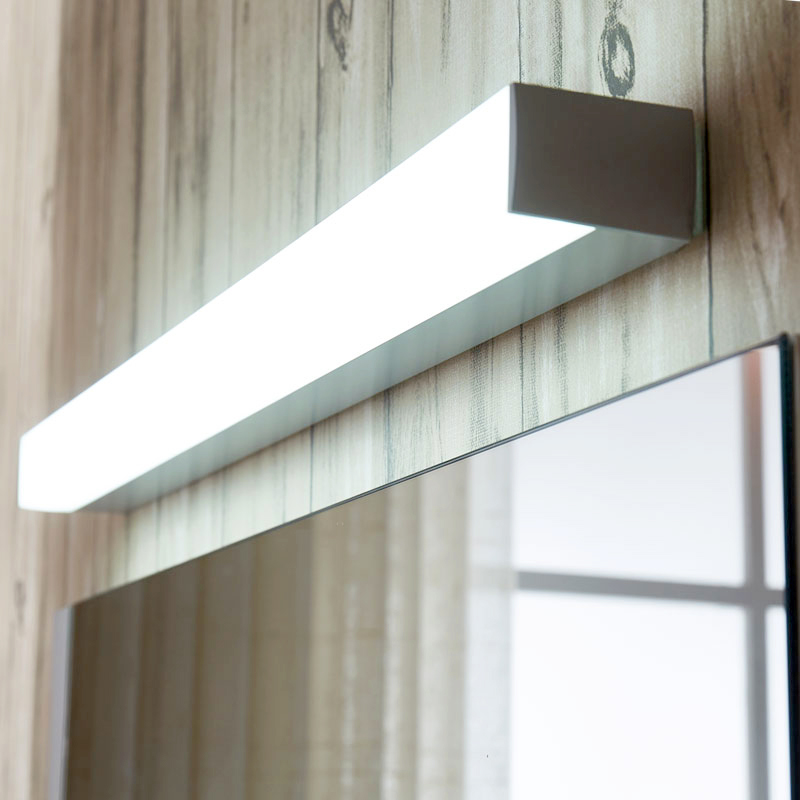 Mirror front lamp LED bathroom mirror lamp modern waterproof wall lamp reading light living room lighting fixtures wall sconce 40cm 12w acryl aluminum led wall lamp mirror light for bathroom aisle living room waterproof anti fog mirror lamps 2131