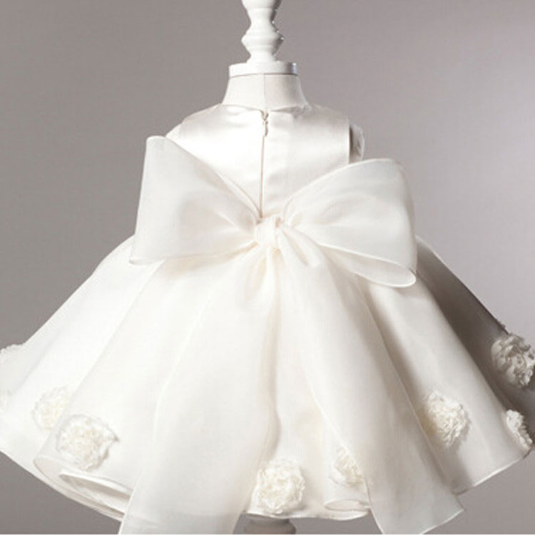 3a0b69310 Hot Sale White Dresses For Baptism Christening Gown Lace 3D Rose Baby Girl  Birthday Princess Dress Newborn Party Tutu Dress-in Dresses from Mother &  Kids on ...
