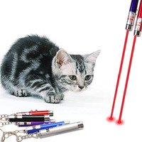 Портативный творческих и Смешные Pet Cat игрушки светодио дный лазерная указка свет ручка с ярким анимации Мышь Shadow Новый