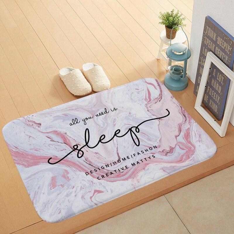 modern marble design floor mat soft flannel doormat quotes