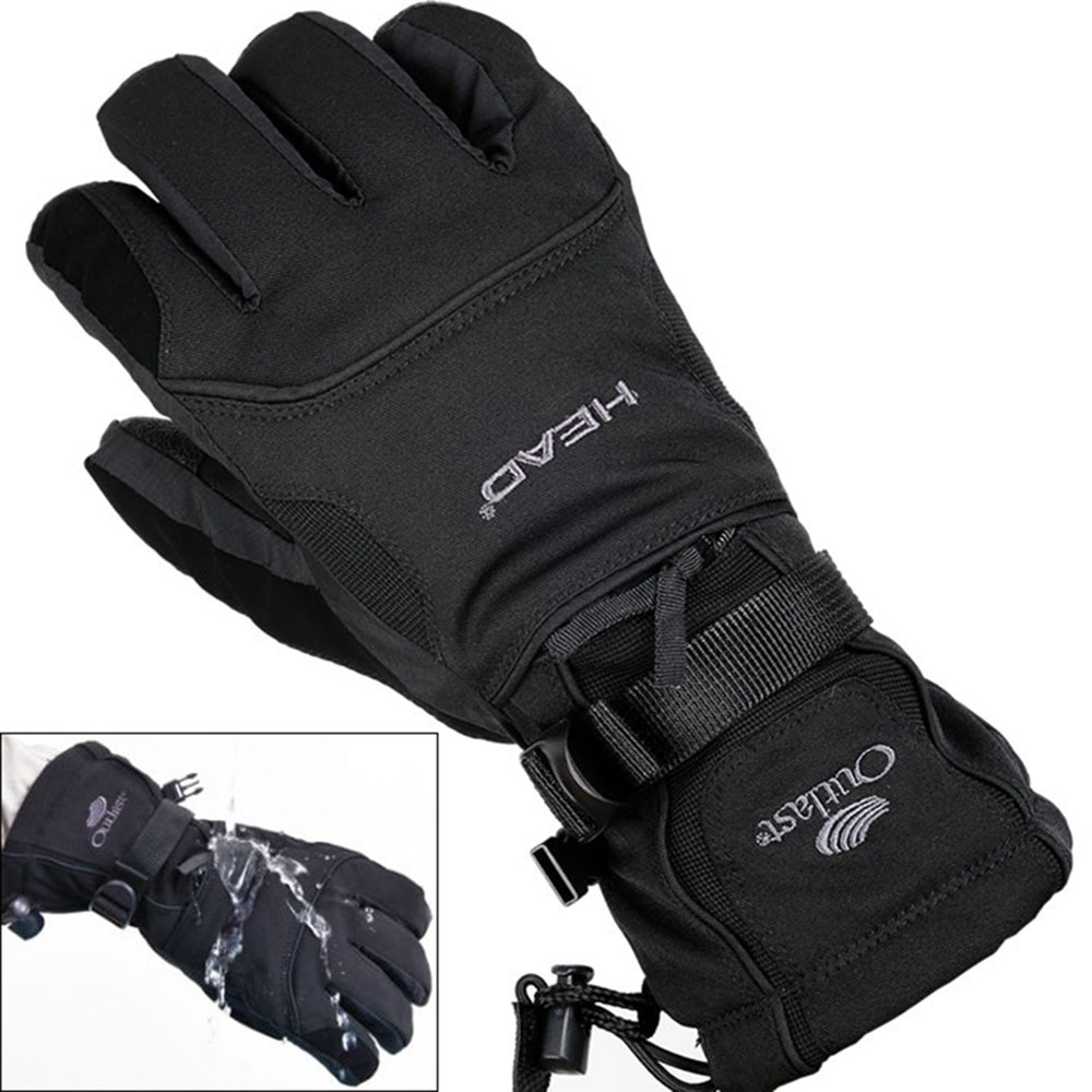 Head Outlast Waterproof Ski /& Snowboard Gloves Black Warm Winter Gloves S M L XL