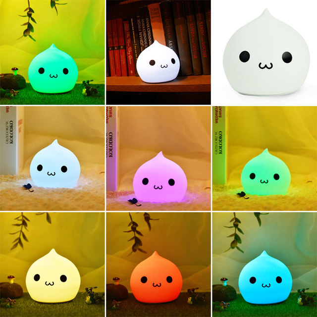 Water Drop Shape LED USB Touch Sensor Mood Night Light Lamp Sleeping Bedroom
