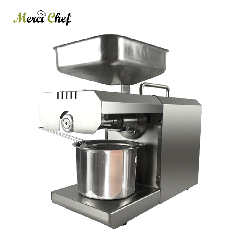 ITOP 450W Stainless Steel Peanuts Oil Press Machine Electric Cold Cocoa Soy Bean Olive Maker Extractor 220V/110V