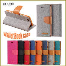 KLAIDO Luxury Women Man Stand Wallet Flip Case For iPhone 6 7 Fashion Hit Color Card Slot Leather Cover For iPhone 5 6S 7 plus