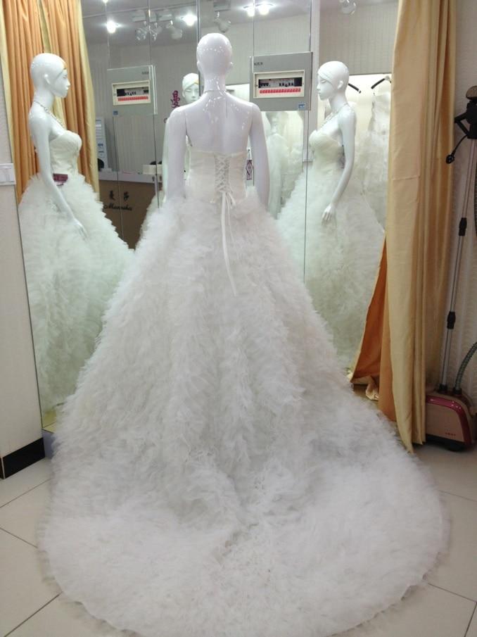 bride gown casamento bandage dress vestido de noiva renda 2016 new fashionable ball long wedding Dress bridal gown free shipping in Wedding Dresses from Weddings Events