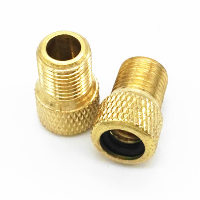 FTW 2pcs Pump Bicycle Convert Presta to Schrader Copper Bike air Valve Adaptor adapters wheels gas nozzle Tube Tool BT3072