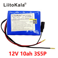 liitokala large capacity 12V 10Ah 18650 lithium battery board protection 12.6V 10000 mAh capacity + 12V 1A battery charger