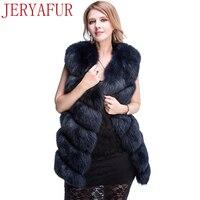 JERYAFUR2017 Russian women's winter coat fur coat fox fur handmade clothing fur clothing fur coat short jacket sleeveless