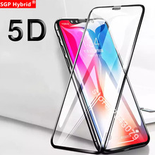 High Quality 5D Tempered Glass Full Cover Edge Screen Protector Protective Glass Film For iPhone X XS Max XR