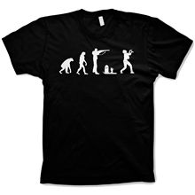 c6e456e467 phiking Zombie evolution T Shirt Funny of Man Walking Dead Black
