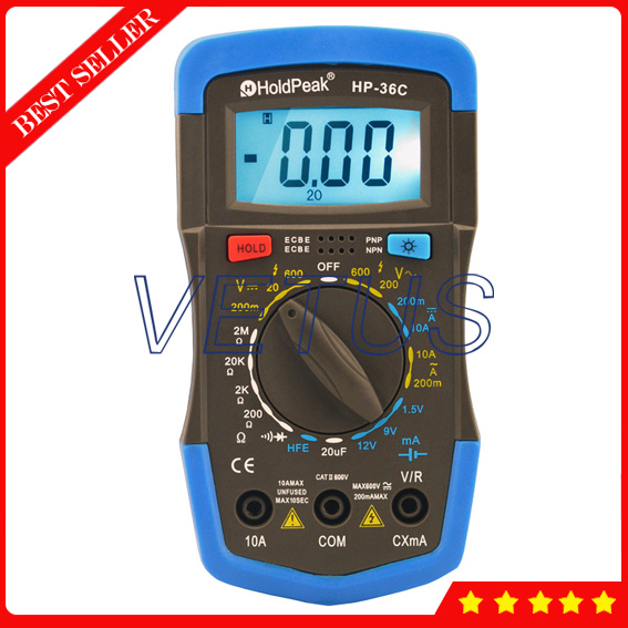 HP-36C AD DC Manual Range Digital Multimeter Brands mini multimeter holdpeak hp 36c ad dc manual range digital multimeter meter portable digital multimeter