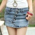 Nueva moda casual summer mujeres delgadas pantalones cortos de mezclilla faldas elásticos delgados 2016 el envío libre