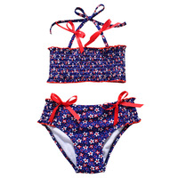 7ec44571a Swimwear Girls Bikini Sets Print 2 Pieces Swim Suits Children Girl Swimsuit  Kids Tankini Bathing Suits