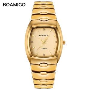 Image 2 - Boamigo homens relógios de luxo de moda quartzo relógio de ouro de aço inoxidável portátil de negócios relógio de pulso masculino relógio relogio masculino