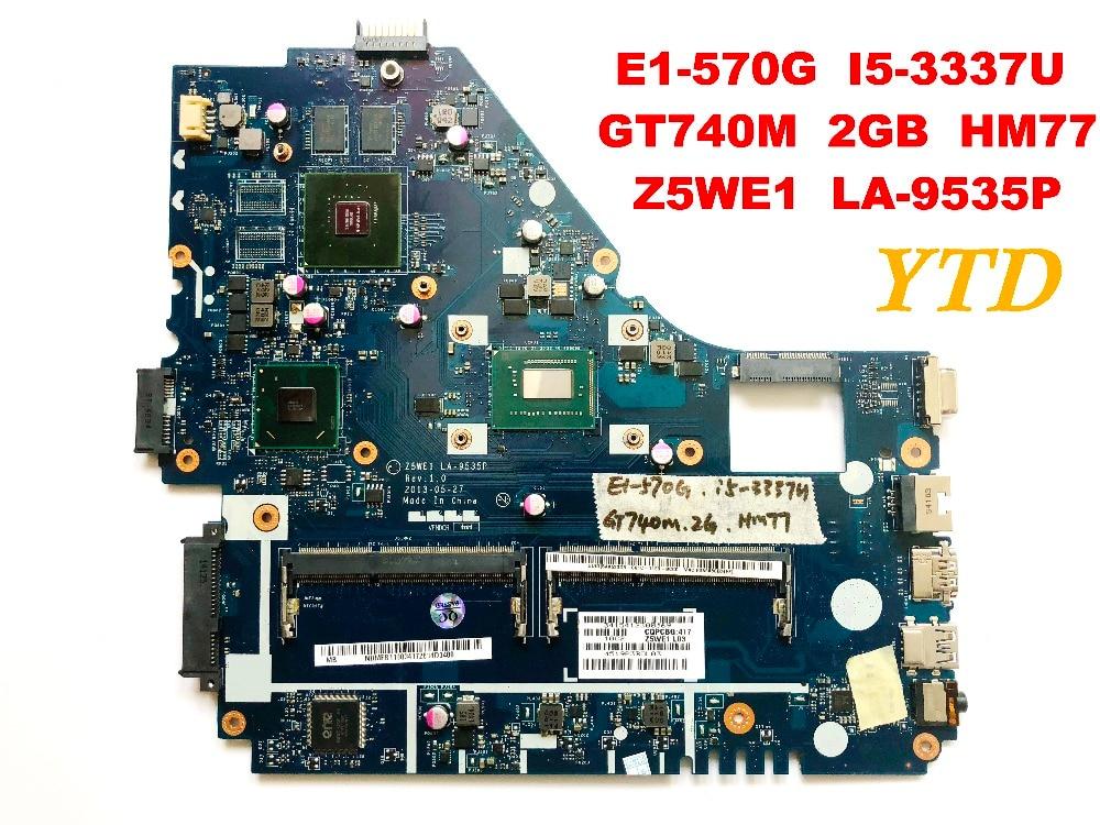 Original for font b ACER b font E1 570G NV570P laptop motherboard E1 570G I5 3337U