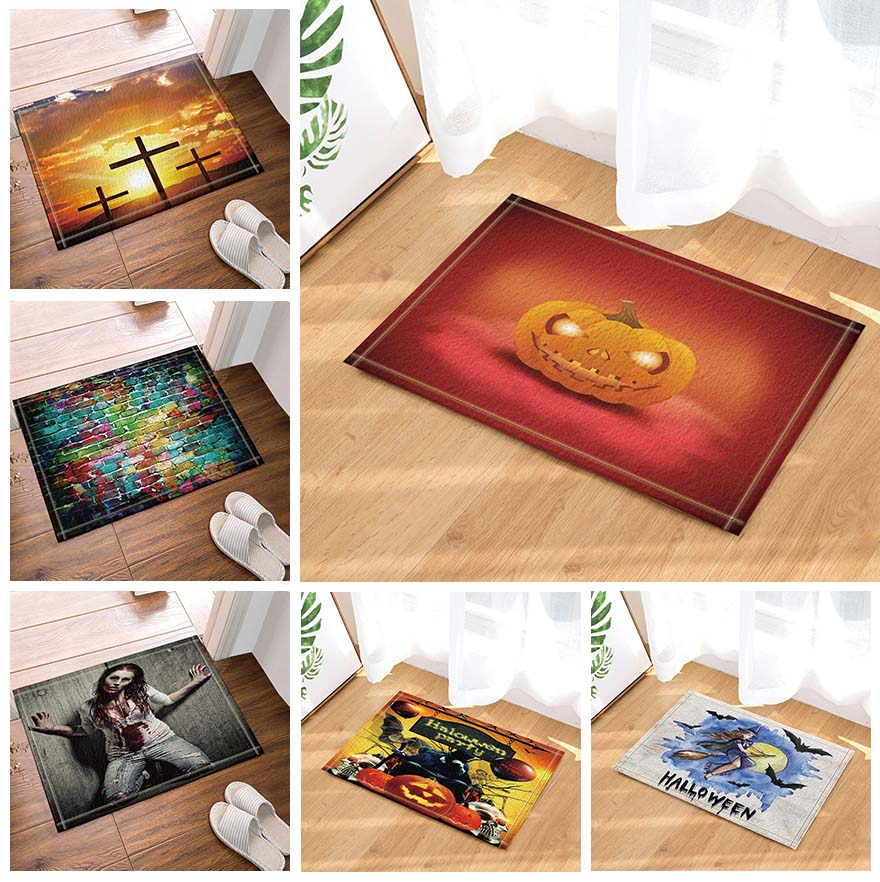 Bath Mats Toilet Rugs Kitchen Floor Printed Carpet For