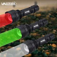 Mise à niveau nouvelle torche de chasse tactique vert/rouge/blanc Zoomable lampe de poche 250-300 Yards 1 Mode arme lumière LED lanterne