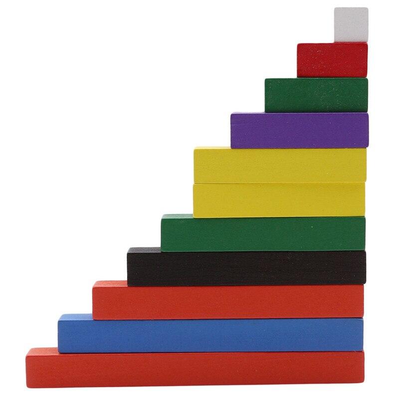 Materiais montessori, brinquedos de matemática de madeira 1-10cm, varas coloridas, contagem ascendente, educação pré-escolar, venda imperdível