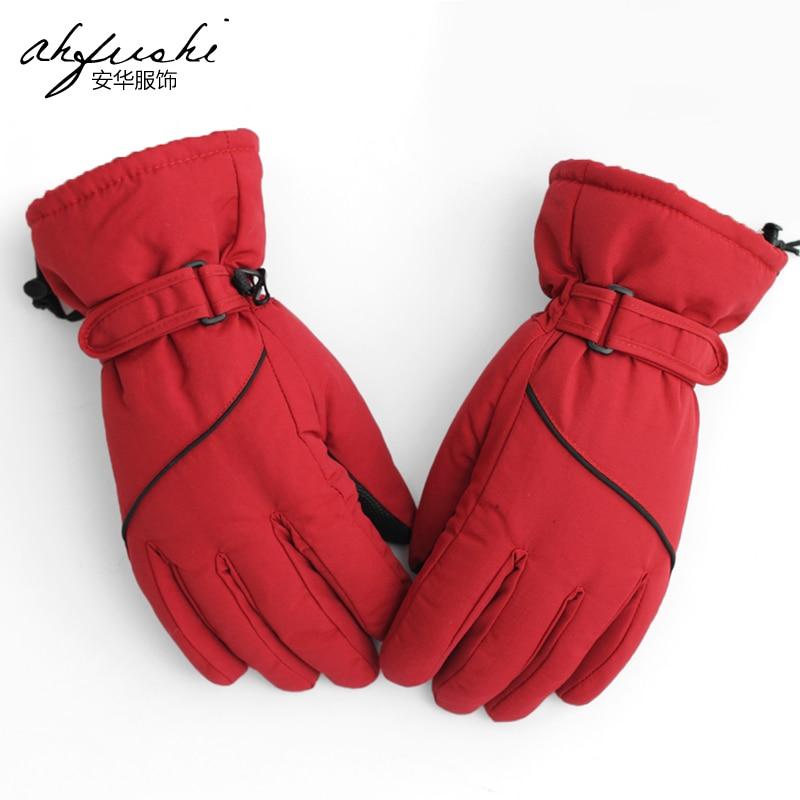 Promotional Unisex windproof Warm Skiing Gloves Winter Outdoor Men Women Climbing Snowboarding Sports Cotton Gloves