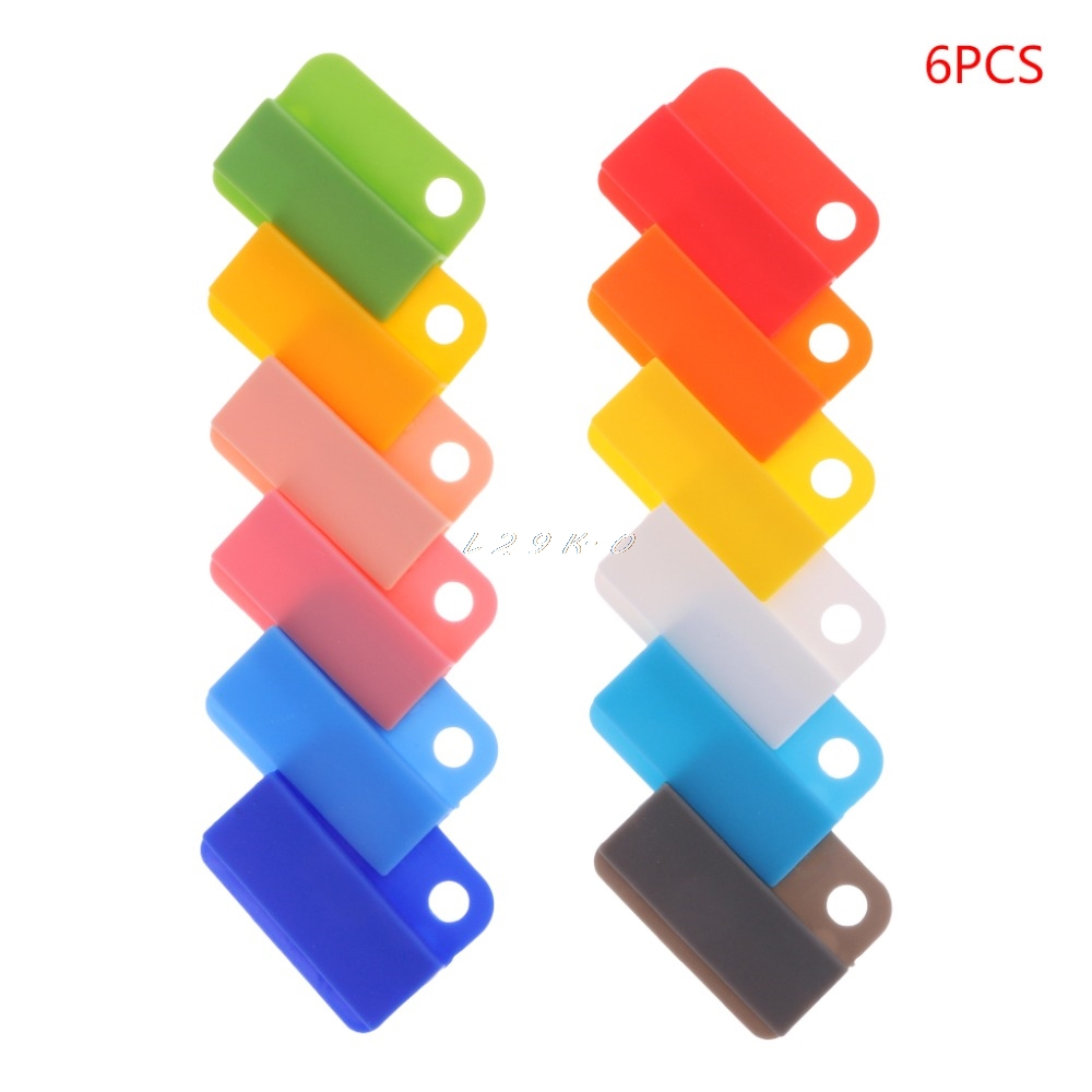 6pcs Newest Creative Decorative Writing Photo Paper Clips Office School Stationery Supplies Paper Book Classification Folder