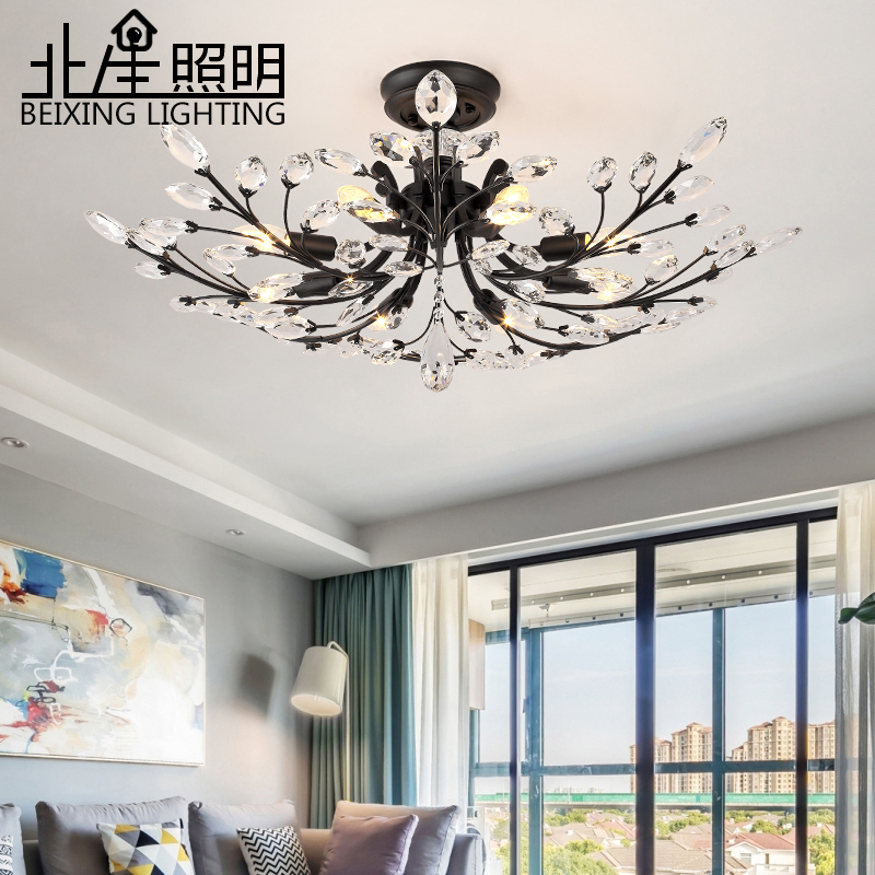 Современные K9 светодио дный LED заподлицо Потолочная люстра светильники Светильник золотой черный дома лампы для мотоциклов для гостиная сп