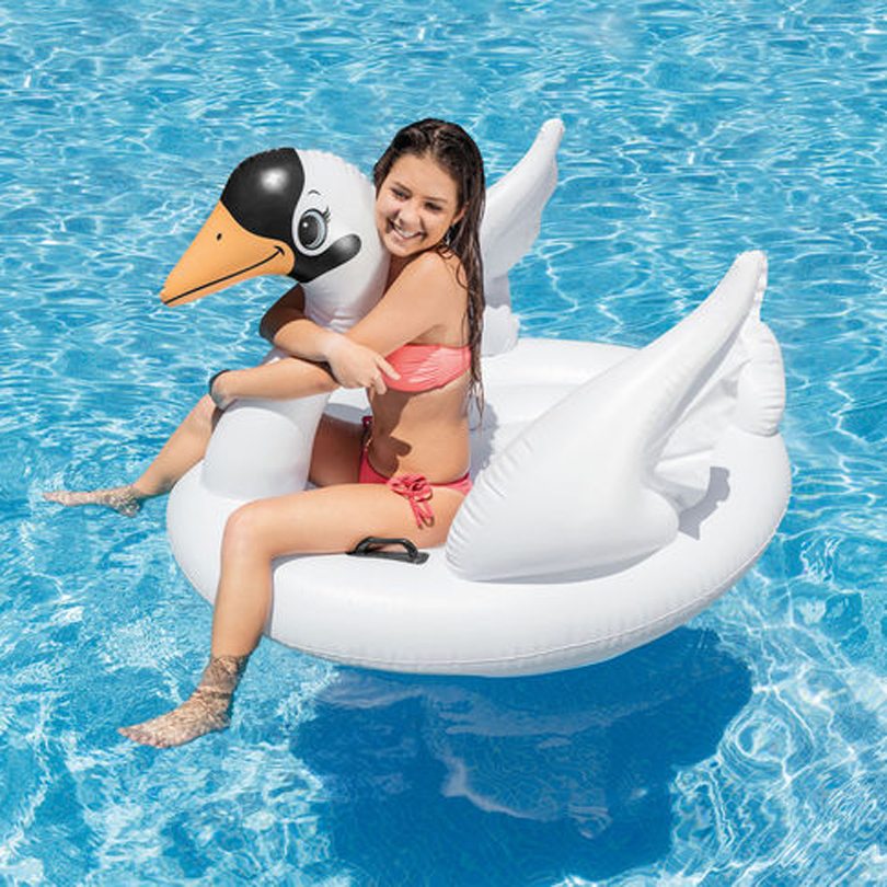 Inflatable Kids Swan Ride on Swimming Pool Play 57557