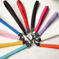 1000 Pcs/lot PU Leather Wrist Hand Strap Lanyard for Mobile Cell Phone Camera USB MP4 PSP Straps