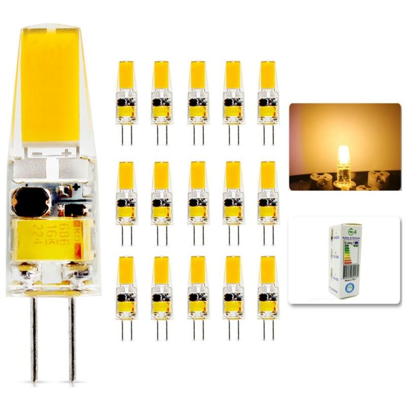 15Pcs/lot 2015 G4 AC DC 12V Led bulb Lamp SMD 6W Replace halogen lamp light 360 Beam Angle luz lampada led
