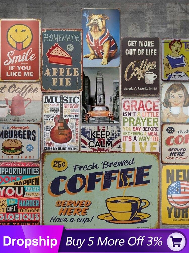Metal Tin Sign No Pet zone Affiche Décoration Bar Pub Accueil rétro vintage
