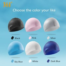 361 Multi color White Pink Blue Swim Cap Adult Swimming Cap Silicone Waterproof Pool Swim Hat for Men Women Swimming Accessories