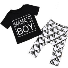2pcs Newborn Toddler Infant Baby Boy Girl Clothes T-shirt Tops Pants Outfits Set Children Kids Boys Girls Clothing