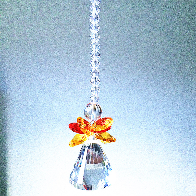 5X 50mm Handing Ring Chandelier Glass Crystal Lamp Prisms Parts Drops Pendant BI