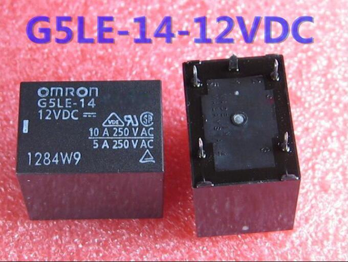 HOT NEW relay G5LE-14 12VDC G5LE-14-12VDC 12V 12VDC DC12V 5PIN new relay f3pa012v 12vdc 12v f3pa012v 12vdc f3pa012v 12v dip4