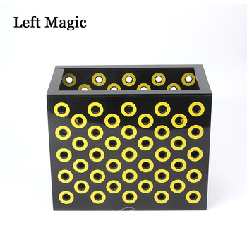 Super Black Box Mysterious Box Stage Magic Tricks Box Props Illusion Professional Magician Magic Gimmick Mentalism Street super quality deluxe floating table with anti gravity vase magic tricks magician stage illusion gimmick props