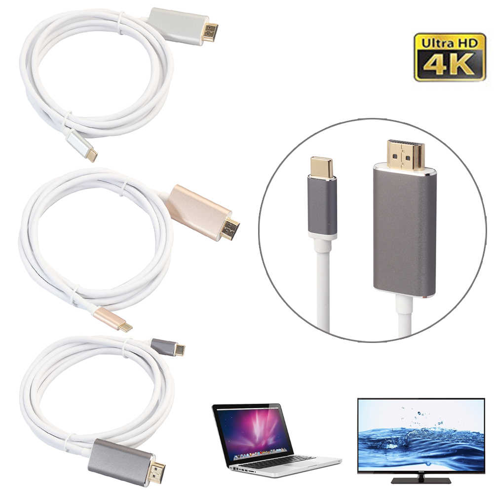 USB-C Type C USB 3.1 to HDMI 4k 2k HDTV Cable for MacBook Galaxy S8 S9 Note8 HuaWei mate 10 Pro P20 Phone USB-C to HDMI Cable